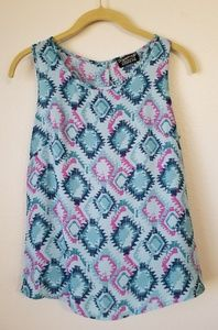 Aztec Print Tank Top Blouse Shirt